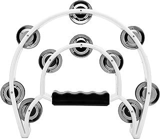 دمبل دو ردیف ، Musfunny Metal Jingles هد دست سازهای دمبوره سازهای موسیقی هدیه برای کودکان و بزرگسالان (سفید)