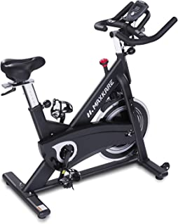 MaxKare Stationary Bike Belt Drive Indoor Cycling Bike with Quiet Flywheel & Pulse Sensor/LCD Monitor/Ipad Mount Pro Exercise Bike w/Adjustable Handlebar for Home Cardio Gym Workout (Black)