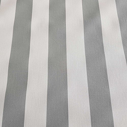 Tela para toldo por metros, rayas grises y blancas, resistente a los rayos UV, protección visual
