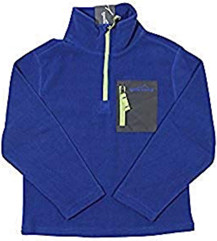 Eddie Bauer Fleece Pullover Sweater, Small (7/8) -True Blue