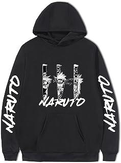 Sudadera con Capucha Unisex Naruto Personalidad Anime Harajuku Sudadera Jersey de Pain Bolsillo de Gran tamaño Uchiha Itac...