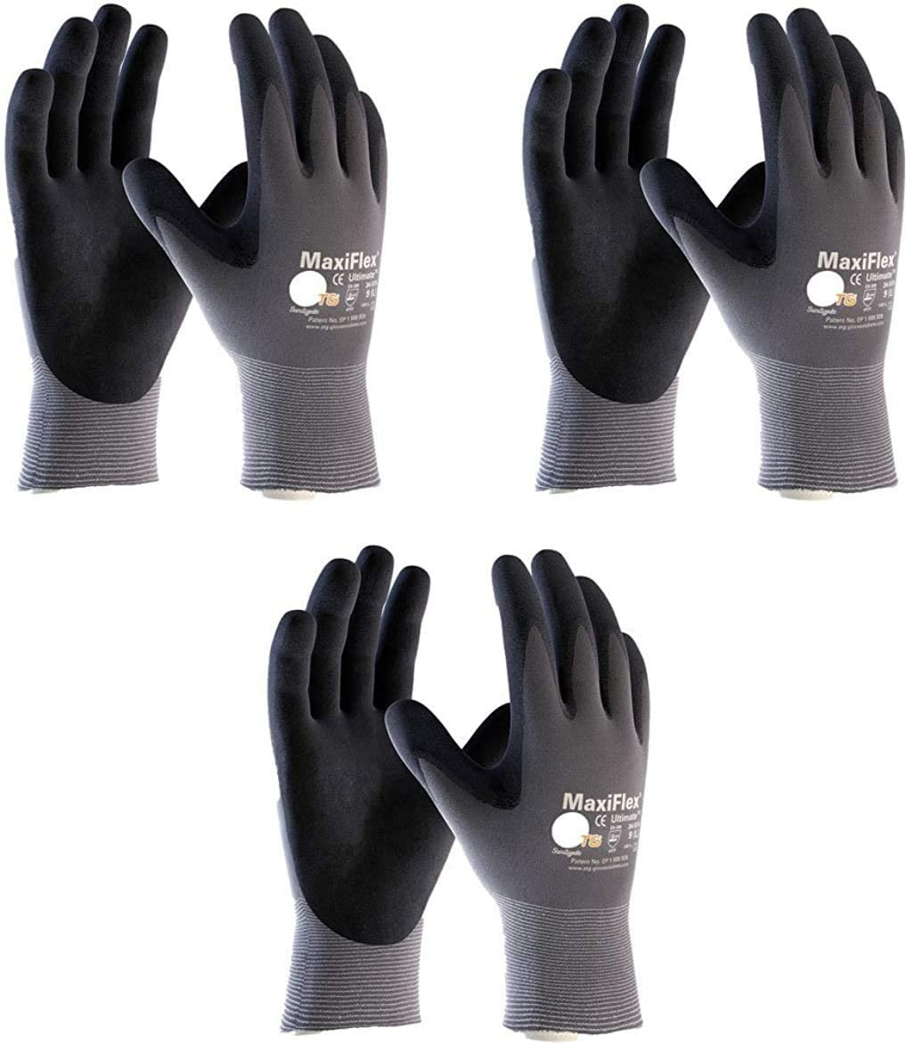 Maxiflex 34-874 Ultimate Nitrile Grip 3 Gloves Fort Atlanta Mall Worth Mall Work Large Pair