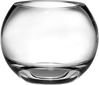 Barski Handmade Glass Thick Rose Bowl , Clear, 9