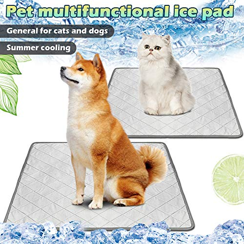 CALOFE Dog Pee Pad,Pet Sleep Mats 2 in 1 Dogs Cats Pee Mats Medium Dog Sleeping Mat Pet Blanket Sleep Cushion Rabbit Kennel Sofa Bed Floor Travel Car Seats