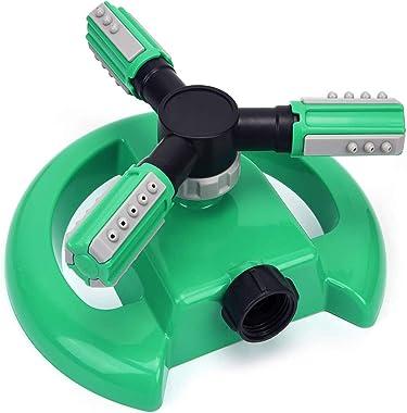 SANSUNTEK Lawn Sprinkler,Automatic Garden Water Sprinkler 360 Degree Rotation Grass Irrigation 3 Mode,Portable Sprinkler Squa