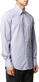 DSQUARED2 Camisa Oxford Mil Rayas Slim Fit Modelo S74DM0496S53619 Color Azul (001F)