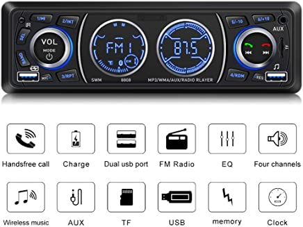 $25 Get Car Stereo with Bluetooth Single Din Car Stereo Car Radio Car Audio Player Support Phone Fast Charge USB SD Card AUX in with Wireless Remote Control