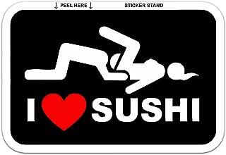 I Love Sushi Adult Funny car Bumper Sticker Window Decal 5