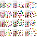 R H LIFESTYLE 6000 PCS (Approx) 12 Styles Assorted 3D Polymer Slices Resin Making Charms for DIY Crafts