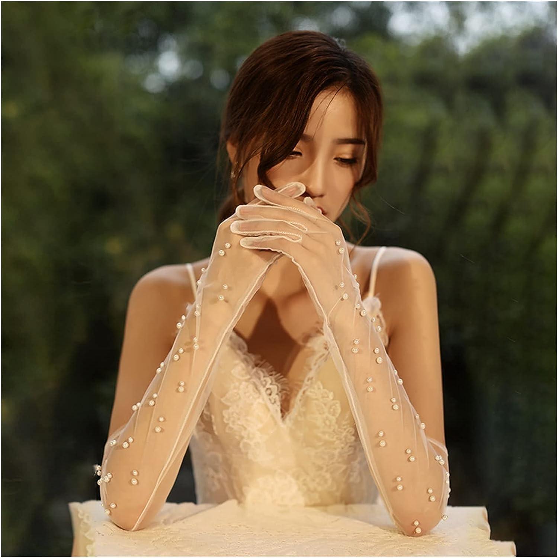 QIANXIMY Soldering Bridal Gloves Women Long Sale item Lengt Lace Elbow