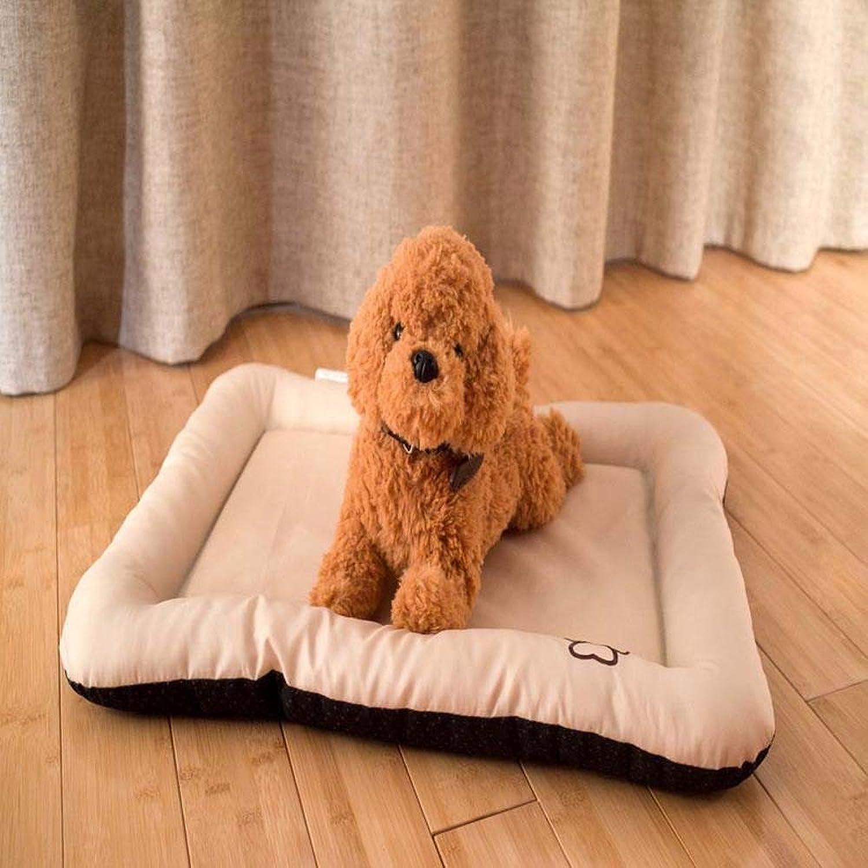 BiuTeFang Pet Bolster Dog Bed Comfort Pet Mat Simple Cute pet supplies Rectangular pet mat