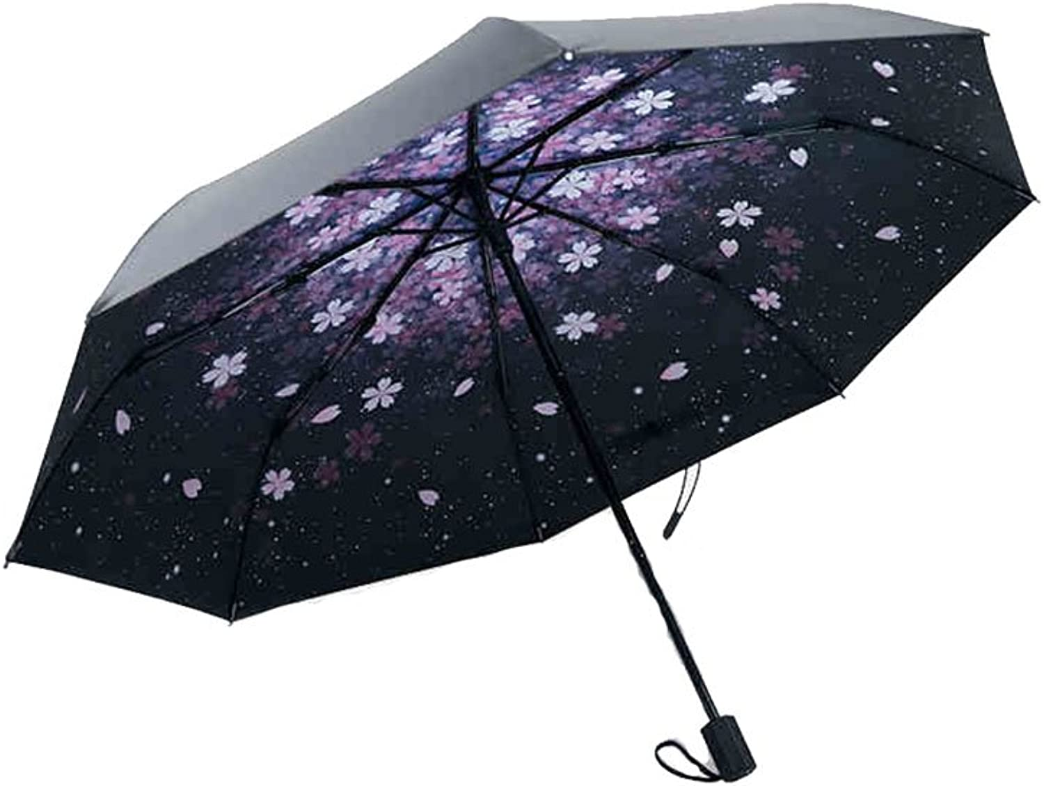 Sun Umbrellas UV Predection 50% Off Umbrellas Umbrellas Dualuse Folding UltraLight Black Umbrella