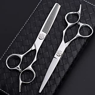 6.0 Inch Professional Hairdressing Scissors Salon Hairdresser Hair Trim and Cut Thinning 440c High Hardness Scissors