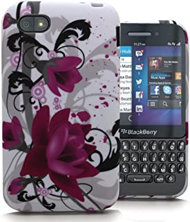 Accessory Master 5055716366518 Silicone Case for Blackberry Q5 with Lotus Flower Pattern Pink