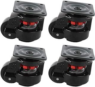 Zwenkwielen, 4 stks Niveauregeling Zware Zwenkwiel Werkbank Zwenkwiel GD-80F Industriële Roller Wiel Nivellering Zwenkwielen