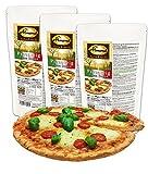 Dr. Almond Paleo Backmischung PIZZA TEIG low-carb glutenfrei sojafrei (3er Pack, für 6 Pizzen) Das Original