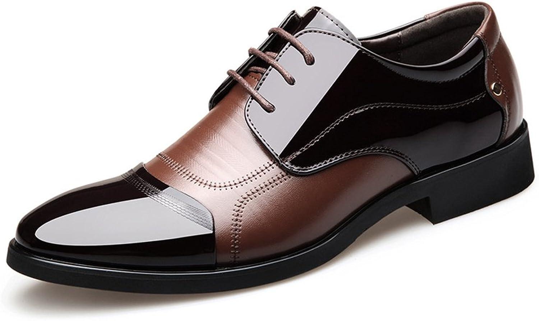 MXL Herren Formelle Business Business Business Schuhe Brüniert Glatte PU Leder Splice Vamp Lace Up Block Ferse Gefüttert Oxfords Atmungs  501510