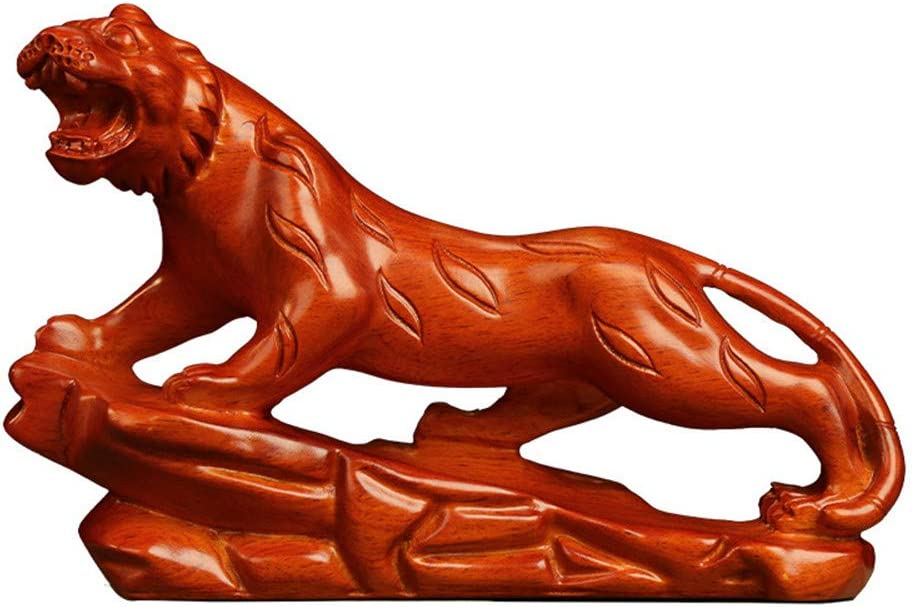 Aibote Natural Black Ebony Rosewood Tiger Large-scale sale Max 42% OFF Wood Collection Statue