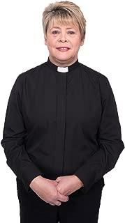 Ladies Clergy Shirt - Tab Collar Long Sleeve