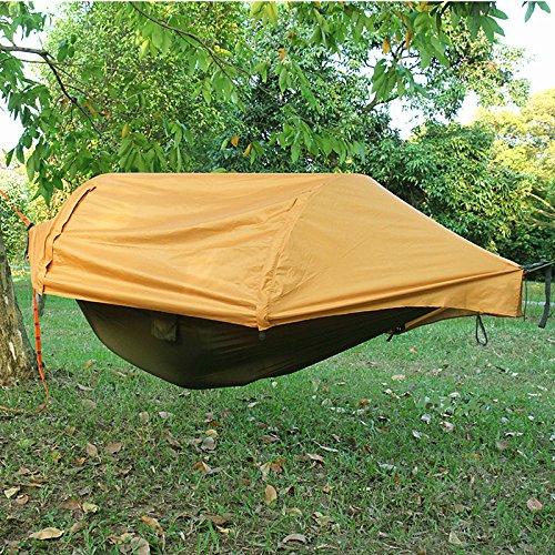 MyWheelieBin Hamaca Impermeable Al Aire Libre Que Acampa Salvaje Pesca Toldo Protector Solar De La Tienda De Tierra Individual Naranja