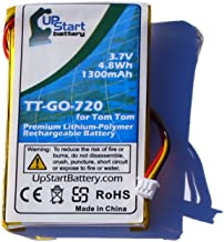 TomTom Go 720 Battery Replacement for TomTom GPS Battery (1300mAh, 3.7V, Lithium-Ion) - Compatible with TomTom 1697461, CS-TM730SL, CSTM730SL, Go 520, Go 530, Go 530 Live, Go 630, Go 720, Go 730, Go 730T, Go 930, Go 930T, Go 940 Live