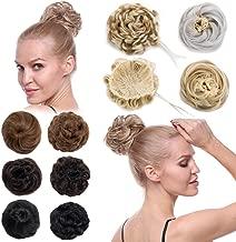 Scrunchy Updo Hair Extensions Straight Wavy Drawstring Hepburn Bun Combs Clip Claw Donut Big Chignon Pony Tail Topknot Piece