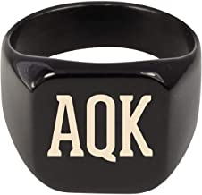 Molandra Products AQK - Adult Initials Stainless Steel Ring