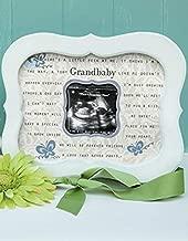 Keepsake Grandbaby Ultrasound Sonogram Poetry Scalloped Frame