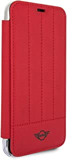 CG Mobile Mini Cooper Slim Fit Hard Case Pu Clear Book-Type Case for iPhone X iPhone Xs (Red)