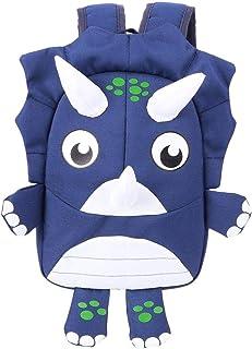Mochila pequeña de dinosaurio para niños, bonita mochila escolar para niños pequeños con correa de seguridad, mochila impermeable de dibujos animados preescolar para niños(Azul oscuro)