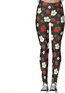 DIYCCY - Pantalones de yoga para mujer, diseño de lunares, color rojo