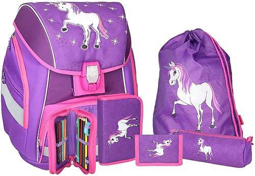 SPIRIT Schulranzen Set Pro Light Unicorn Einhorn