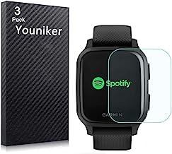 Youniker 6 Pack Compatible with Garmin Venu Sq Screen Protector Film for Garmin Venu Sq GPS Smartwatch Screen Protectors F...
