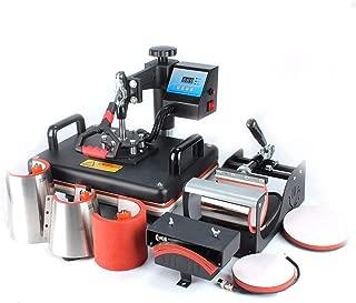 8 in 1 Digital Heat Press Machine Combo Heat Transfer Sublimation Print Machine T-Shirts/Mug/Plate/Cap/Cup Swing Away Digital Press Machine