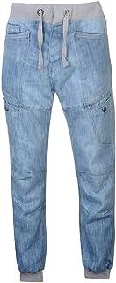 No Fear Jeans Denim Cuffed Mens Trouser Pants