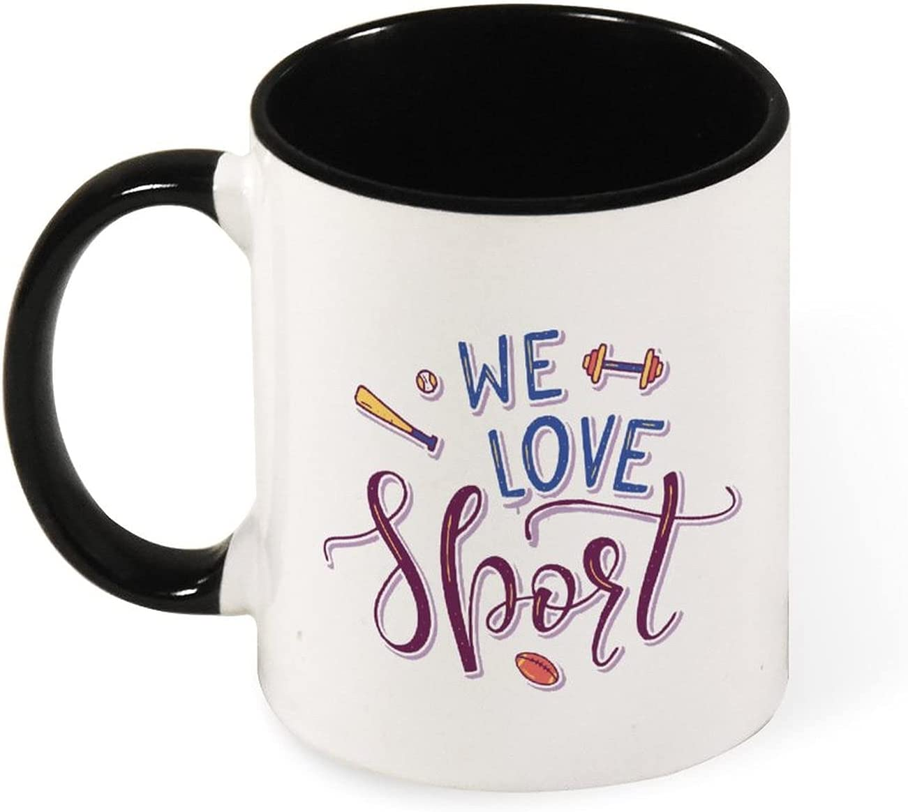 Ceramic coffee cup for cappuccino Outlet sale feature store latte tea Spor hot Love or We