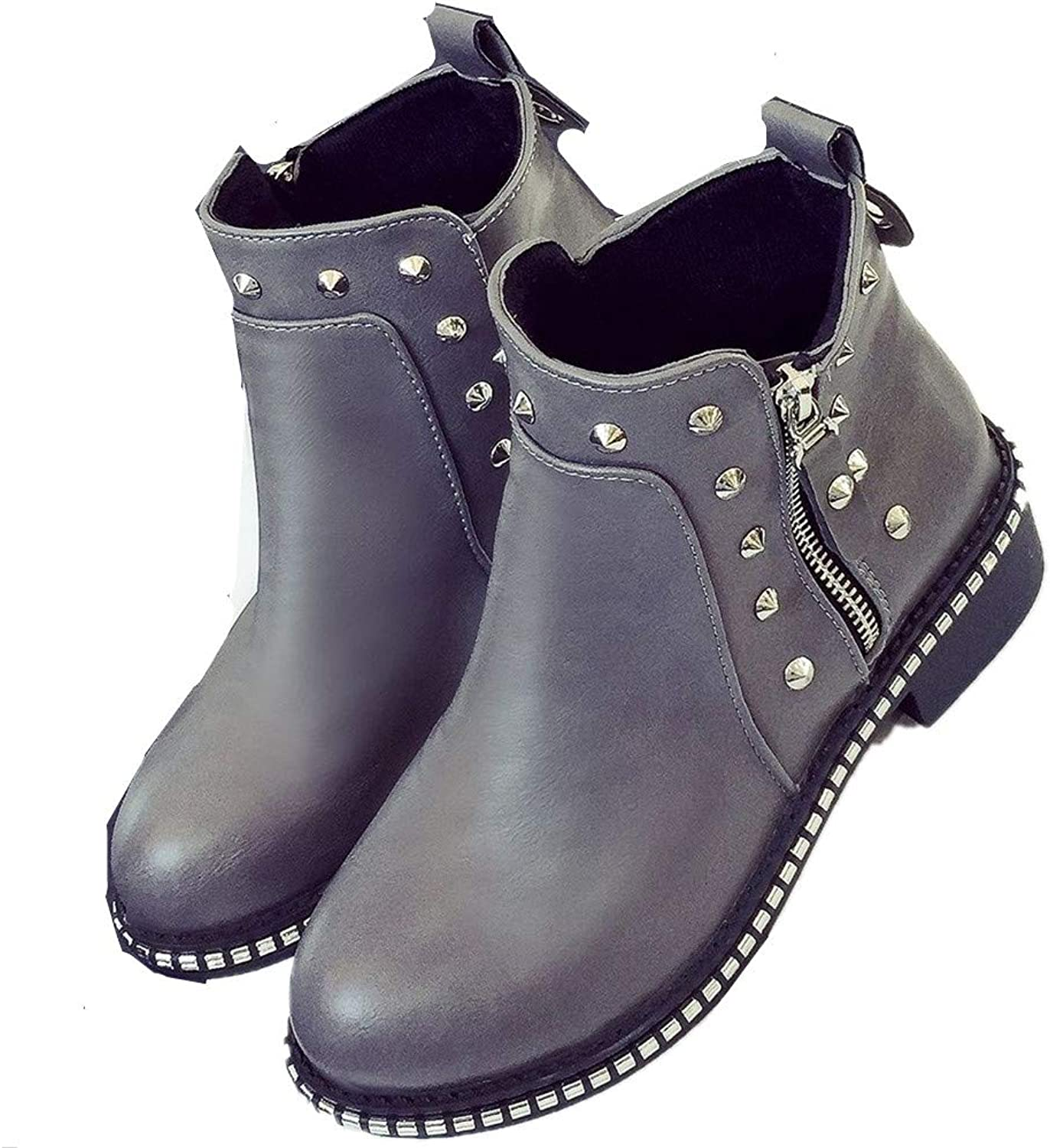 Super frist Winter Ankle Bootie with Women's Boots Martin Boots Chelsea Boots Side Zipper