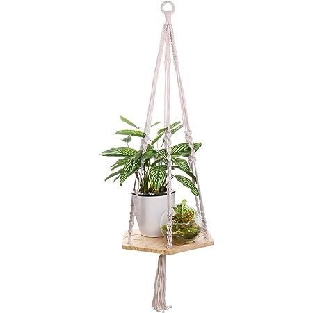 1970/'s Jungle Style Outdoor Plant Hanger Macrame Plant Hanger with Flower Power Plant Pot Bohemian Patio Decor Daisy Decor Macrame