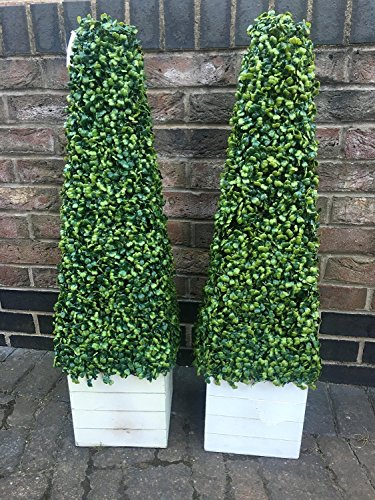 2 x Artificial Trees 3ft Pyramid Cones - Indoor artificial trees - Realistic Topiary trees