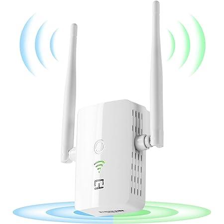 Repetidor WiFi 1200Mbps, 2.4 GHz| 5Ghz, Amplificador Señal de WiFi Extensor,2 Antenas Externas,Repetidor Inalámbrico con Botón WPS, Fácil de ...