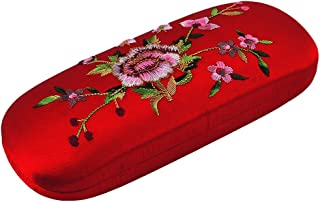 uxcell Embroidered Eyeglasses Spectacles Protector Container Glasses Holder Case