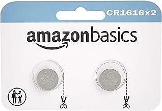 AmazonBasics - Juego de 2 pilas de botón de litio CR1616