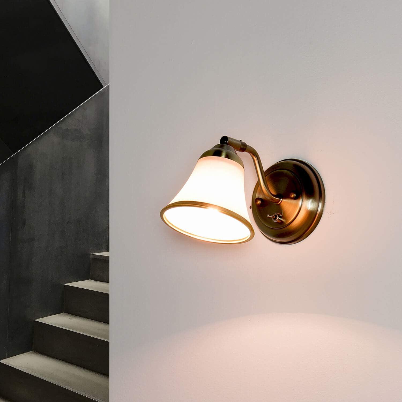 Dekorative Badleuchte Bronze Optik schwenkbar mit Schalter E20 Spiegellicht  Jugendstil Badezimmer Bad Wandlampe Wandleuchte