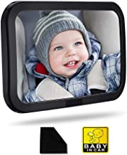 Premium Back Seat Baby Mirror - Rear View Baby Car Seat Mirror Wide Convex Shatterproof Glass and Fully Assembled ,Rearview Baby Mirror-Easily to Observe The Baby's Every Move, Safety and 360 Degree A