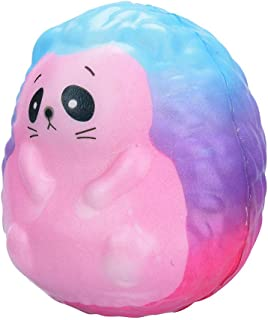 Xuways Adorable Rainbow Color Hedgehog Squishy Toys Party Favors for Kids,Ultra Soft Dolls Cute Sweet Scented Squishies Slow Rising Toy for Birthday Gift,Autism, ADHD and Stress Relief