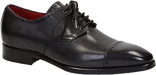 LEONARDO SHOES Luxury Fashion Mens 06437BLACK Grey Lace-Up Shoes | Season Outlet
