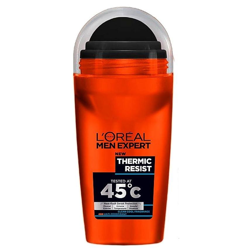 初心者悪夢拡散するL'Oreal Paris Men Expert Deodorant Roll-On - Thermic Resist (50ml) L'オラ?アルパリのメンズ専門デオドラントロールオン - サーミックにレジスト( 50ミリリットル) [並行輸入品]