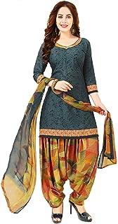 Rajnandini Women's Grey Cotton Printed Salwar Suit (Ready To Wear_X-Large/XX-Large)