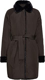 GEOX Women's Faux Fur Kaula Reversible Coat Black