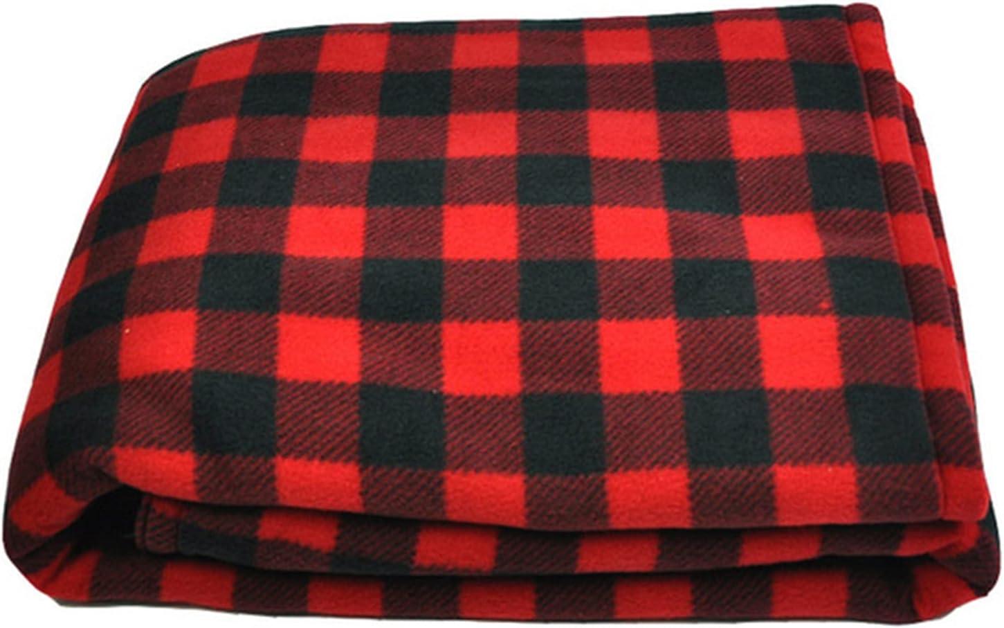 xiangqian Manta de calefacción eléctrica de coche de 12 V, colcha ajustable de felpa, manta de calentamiento rápido, manta de tela escocesa portátil para viajes en casa, camping, ideal para clima frío